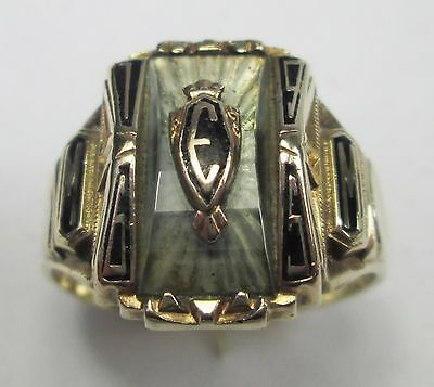 Vintage High School College American Balfour 10K Gold Ring Dated 1965 Size V 10g