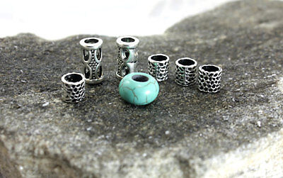 Turquoise Dreadlock Bead dreadlocks beads 5mm dread beads metal beads 7 Dread