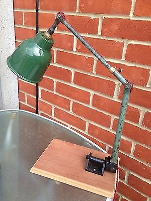 Industrial Vintage Anglepoise Factory Machinist Desk Light Lamp PAT tested