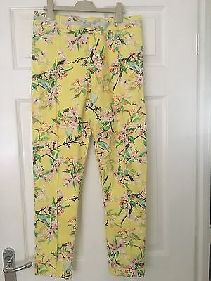 Girls Marks And Spencer Autograph Floral Trousers Age 14 VGC