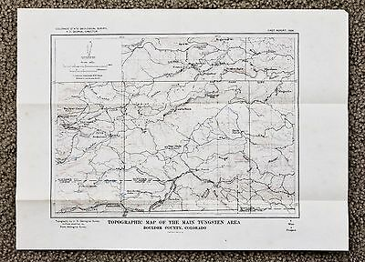 1910 Boulder County Colorado Map Gilpin County Topographic Survey Original RARE