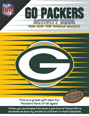 Green Bay Packers NFL Kids Sports Activity Book Coloring Stickers Puzzles Games