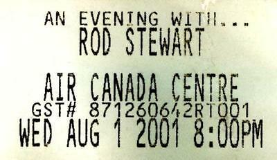 ROD STEWART Ticket Stub 2001 - Air Canada Ctr. Toronto-The Human Tour