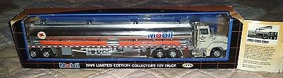 Mobil 1999 Limited Edition Collectors Toy Tanker Truck With Box Sound Lights