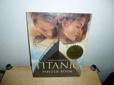 "James Cameron's Titanic Poster Book - 12 Full Size-20"" x 25"" -Posters - SEALED"