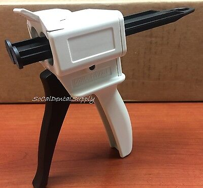 Dental Impression Material 1:1/2:1 50ml Cartridge Dispenser Gun High Performance