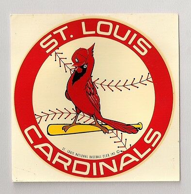 """Vintage Early 1970s St Louis Cardinals 4"""" Window Decal Beautiful!"""