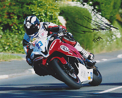 WILLIAM DUNLOP 2009 ISLE OF MAN TT HAND SIGNED PHOTO WITH CoA