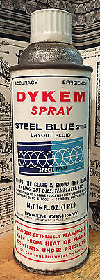 Vintage 1967 Dykem Steel Blue Spray Can - Paint - Graffiti - Advertising
