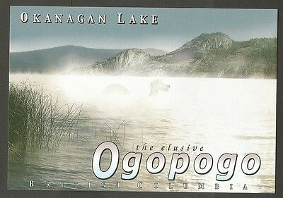 British Columbia Canada Postcard The Elusive Ogopogo Okanagan Lake