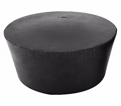 Solid Rubber Stopper - Size 14 - 90mm x 75mm x 39mm Long - Lab #14