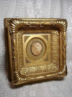 Beautiful Small Ornate Antique Gilt Wood and Composition Picture Frame
