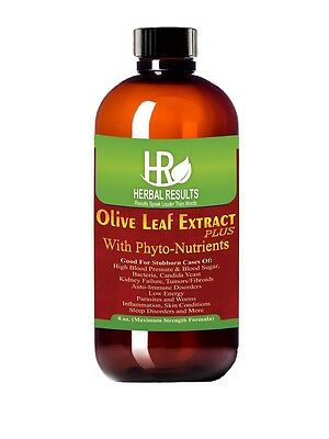 Herbal Results Olive Leaf Extract Plus Phyto-Nutrients Max Strength 8 Oz Liquid