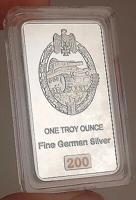 One Troy Ounce World War II Commemorative German Silver Bar - Only 500 Made!