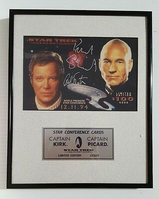 "Star Trek Star Conference 1994 ""Generations"" Jumbo Phone Card Signed 13/500 COA"