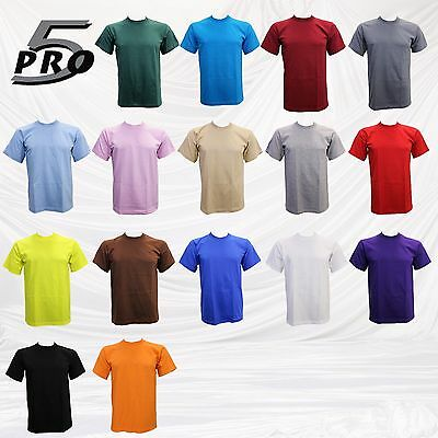 Pro 5  T Shirt Basic Tee  Super Heavy Duty100% Cotton  Short Sleeve Size S~5Xl