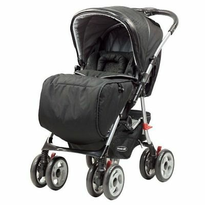 Steelcraft Acclaim Reverse Handle Baby Stroller Black Circles