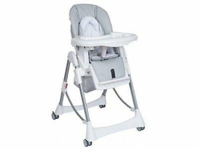 Steelcraft Messina DLX Hi Lo Baby Feeding High chair Silver