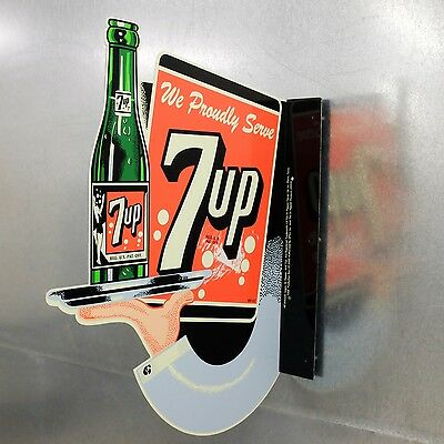 Reproduction Limited Edition 7 Up Flange Sign Long Out Of Production USA Made