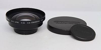 Olympus IS/L Lens A-28 H.Q. Wide Angle Converter 0.8x - Mounts onto 49mm Thread