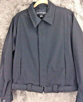 Kenneth Cole New York Water Resistant Jacket Bomber Style Black Men's Size Small