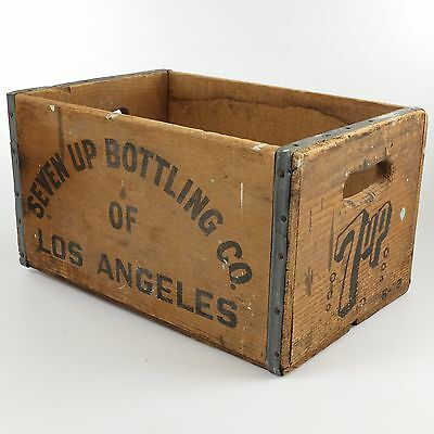 Vintage 7 Up Bottling Co Wood Crate Soda Carrier Box 1972 Original 16x9 inches