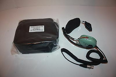 David Clark H8592 Pro Audio Single Ear Headset with New Case
