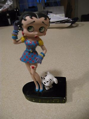 """Betty Boop collector figurine """"Betty sings the blues"""" betty and dog on piano top"""