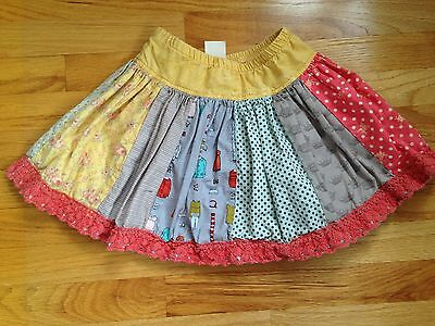 Boutique Persnickety Girls 6 Vintage Fabric Full Twirl Skirt