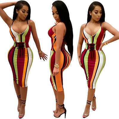 Women Lady Clubwear Summer Red Playsuit Bodycon Party Jumpsuit Romper Trousers