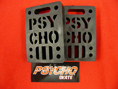 "Psycho Shock Riser - 1/2"" Set Of 2 Pads *new* Black"