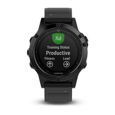Neuf Garmin Fenix 5 Black Sapphire With Black Band Multisport Gps Montre Us Ver