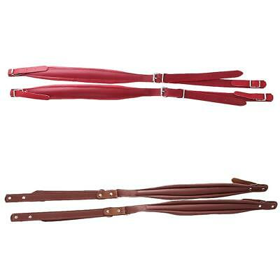 Two Pairs of PU Leather Shoulder Straps for 16-120 Bass Accordion New