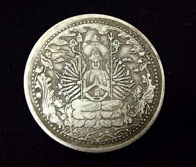 Old Coin Asian Chinese Antique Collectible Buddha-Kuan-Yin-1000-hands-Holy