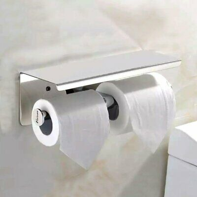Fuloon 304 Stainless Steel Toilet Paper Roll Holder Bath Accessory Storage Hook