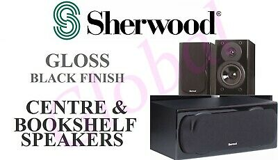 Sherwood Concerto Bookshelf & Centre Speakers -NEW - 3 SPEAKER PACK