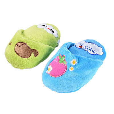 Squeaky Slipper Shoes Chew Play Toy For Pet Puppy Dog Cat Fetch Throw Plush Toys