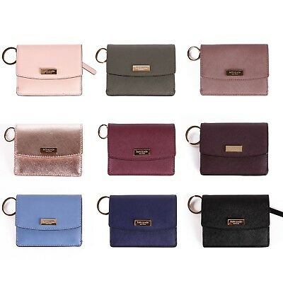 NWT Kate Spade Petty Laurel Way Mini Leather Wallet  with Key Ring