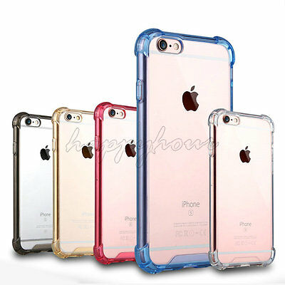Hybrid Shockproof Rubber TPU Clear Gel Phone Case Cover For iPhone 7 6 6S 5/5S