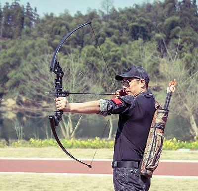 Archery 40Lbs Takedown Straight Recurve Bow RH Hunting Fishing Practice Target