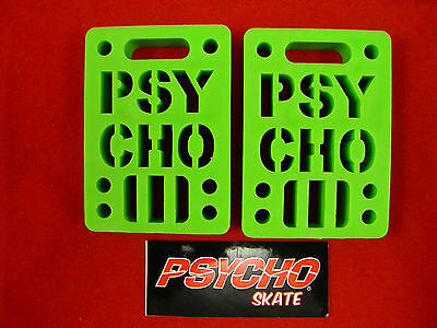 "Psycho Shock Riser - 1/2"" Set Of 2 Pads *new* Green"