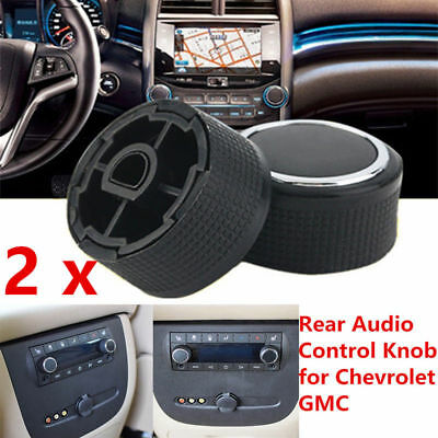 2PCS Rear Audio Radio Control Knob Button For Chevrolet GMC Cadillac Buick 07-13