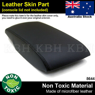 Leather Armrest Center Console Lid Cover Fits for Toyota Camry 2007-2011 Black