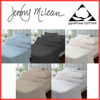 Jenny Mclean 100% Egyptian Cotton 175GSM Flannelette FITTED SHEET Queen King