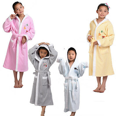 Summer 100% Cotton Girls Kids Boy BathRobe Sleepwear Homewear Pajamas Clothing