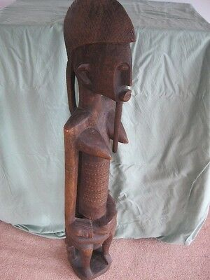 DOGON STANDING FEMALE STATUE, Congo African tribal art ANTIQUE