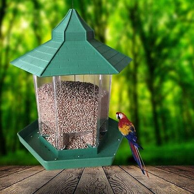 Waterproof Gazebo Hanging Wild Bird Feeder Outdoor Feeding For Garden Decoration