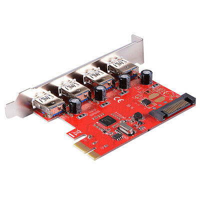 PCI-Express to 4-Port Interface USB 3.0 Card with 15 Pin Power Connetor AC578