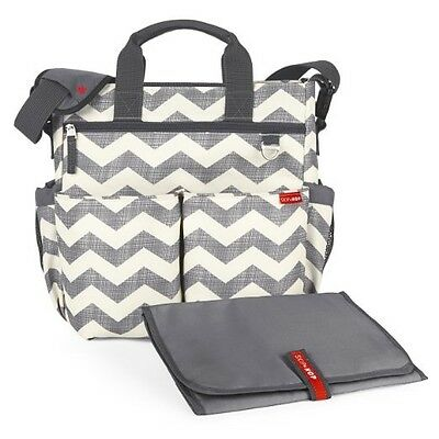 Skip Hop Duo Signature Diaper Bag with Portable Changing Mat, Chevron