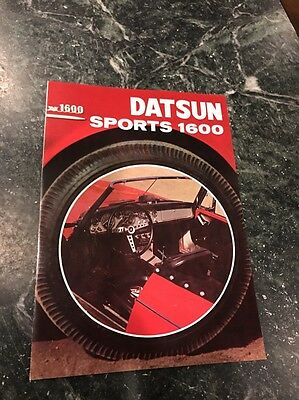 Rare 1965 Orig Vtg Datsun Sports 1600 Brochure Japan Nissan Scarce Dealer 8.5""